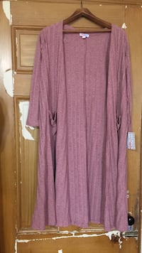 Pink Long Cardigan with pockets