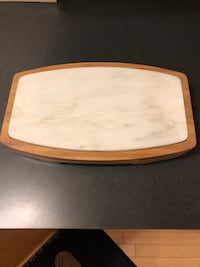 Cheese board with utensils
