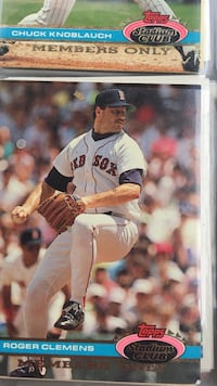 Roger Clemens baseball player trading card Nashville, 37115