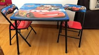 Cars fold up table and 2 chairs Edmonton, T5L 0V5