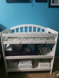 changing table with pad and free 3 covers