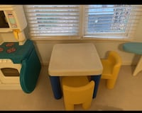 Little tikes table and 2 chairs.  Used indoors. Non smoking.  38 km