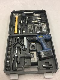 black and blue cordless hand drill set Dartmouth, B3A