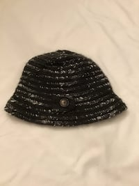 Women's Madison 88 Anthropologie charcoal black and white hat Manasquan, 08736