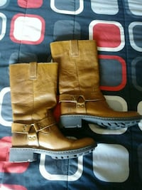 All Tan Leather brown boots size 7 Salt Lake City, 84129
