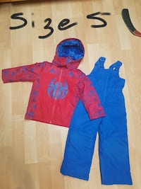 blue and red Spider-man Themed zipped hoodie and romper pants Ontario, K1B 4Y7
