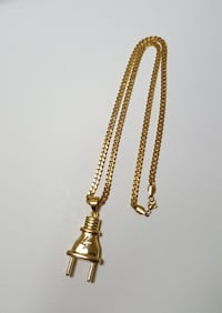 Gold Plated Plug Pendant + Chain Mississauga, L4Y 4G4