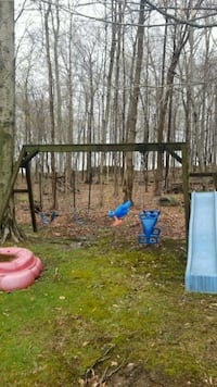 black and blue slide and swing Sterling Heights, 48311