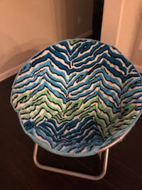 Turquoise Zebra Saucer Chair from Justice. Like New. Queen Creek Queen Creek, 85142