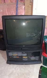 CRT TV with stand included