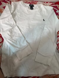 White ralph lauren polo shirt LARGE FOR YOUTH Montréal, H3S 1K3