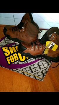 pair of brown-and-black hiking boots 58 km