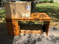 Office Desk with 2 drawer file cabinet.  Fairport, 14450