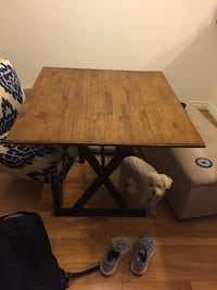 Dining table can fold into entry table
