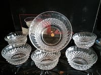 BNIB!CRYSTAL BOWL SET (set of 6) Vaughan