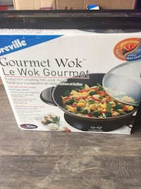 Breville gourmet wok. Used a few times only. Love it but no room - moving ! Cambridge, N1T 0B3