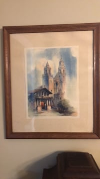 brown wooden framed painting of house Hagerstown, 21740