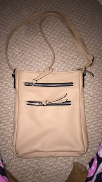 Black rivet tan purse