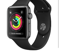 space gray aluminum case Apple Watch with black sport band Hempstead, 11550