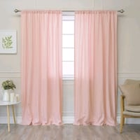 Pink linen curtains San Francisco, 94158