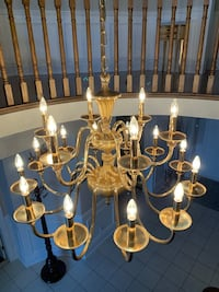 2 Gold Plated Brass Chandeliers & 6 Wall Sconces Vaughan, L4L 7J6