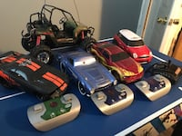 Assorted remote control cars