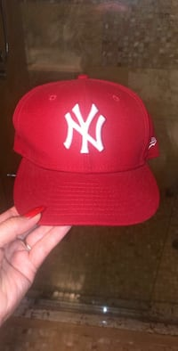 Red NY Fitted Hat 549 km