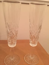 Pair of Tiffany Sybil Champagne flutes. Lightly used look brand new.  Morrisville, 27560
