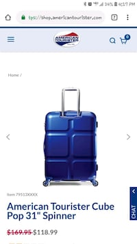 American Tourister Cube Pop Spinner Suitcase