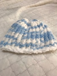blue and white knit textile Frederick, 21702