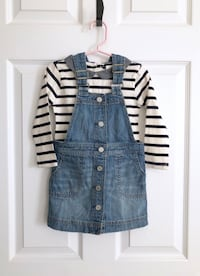 Gap striped top and coverall dress size 2T Mississauga, L5M 6C6