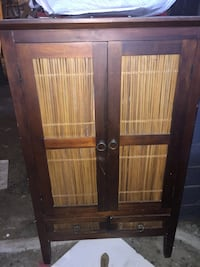 Teak and Bamboo Chest