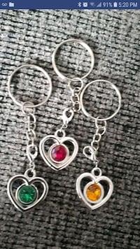 New Heart keychains,Each
