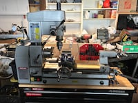 Metal lathe and mill and lots of tooling and cart with digital displays San Diego, 92129