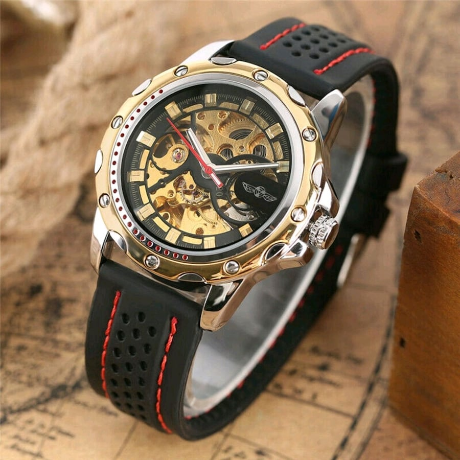 Sport Automatic Mechanical Wrist Watches For Men New
