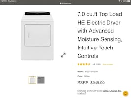 GE washer and dryer matching set, barely used $500 or best offer