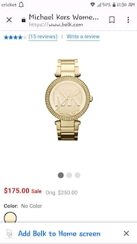 round gold analog watch with gold link bracelet Atwater, 95301
