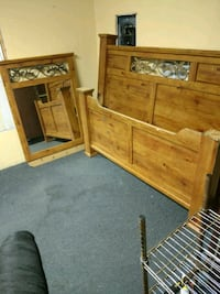 brown wooden dresser with mirror Sebring, 33875