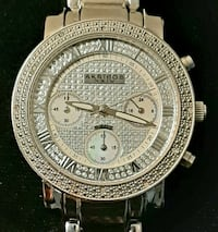 Gorgeous Diamond And Mother Of Pearl Akribos Watch!
