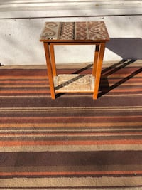 Tile Wood Side Table  Los Angeles, 91423