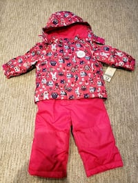 New with tag snowsuit 12-18m Dark pink