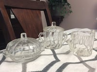 Crystal Cream, Sugar & Butter Dish Set Courtice