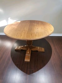Solid Oak Wood Expandable Dining Table Oakville