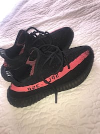 black-and-red Adidas Yeezy Boost 350 Houston, 77066