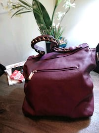 women's maroon leather shoulder bag Silver Spring, 20902