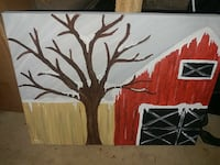 Snowy Barn Canvas Painting Schaghticoke, 12154