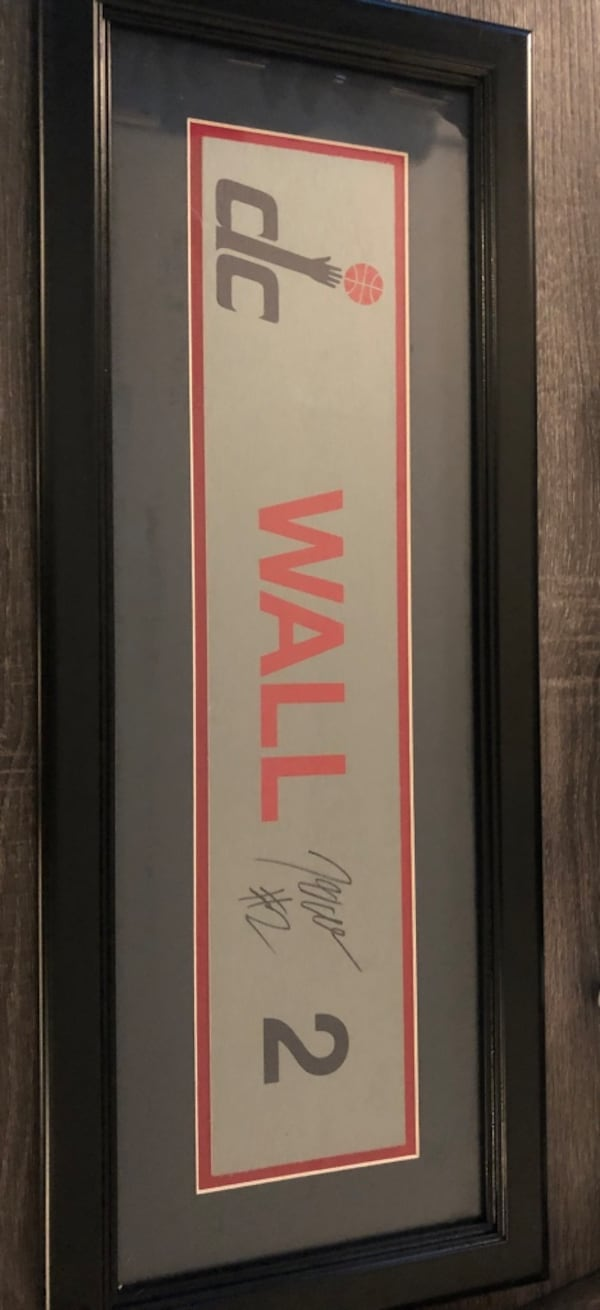 John Wall Signed Locker Room Nameplate Autograph Wizards 0
