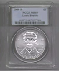 2009 P Louis Braille Commerative PCGS MS69 South Riding, 20152