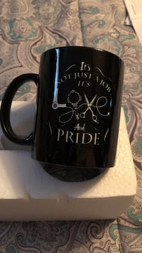 black and white It's Not Just A Job It's Love and Pride ceramic mug Chambersburg, 17202