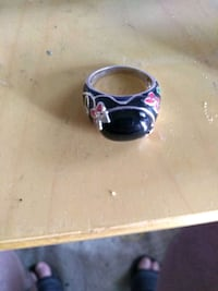 .925 stamped sterling silver onyx crystal ring Tysons, 22102